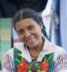 Portrait of indigenous Mexican woman