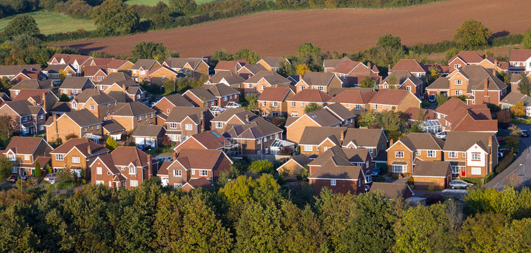 Aerial View of UK Houses