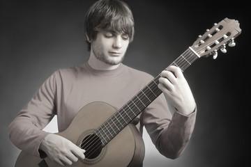 Acoustic guitar guitarist playing