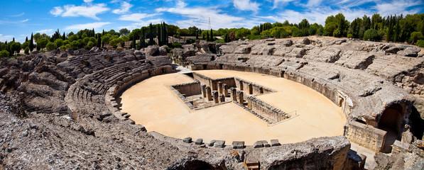Fotomurales - Roman Amphitheater ruin Italica. Province Seville, Spain
