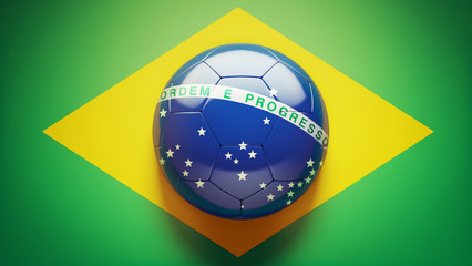Brazilian Flag Soccer Ball