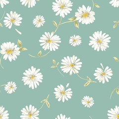 pretty daisy seamless background