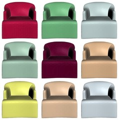 Modern Colorful Armchairs 16