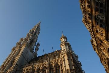 Grand Place, Brüssel: Rathaus, Bürger- und Zunfthäuser