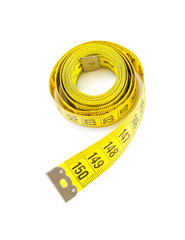 an yellow measure tape