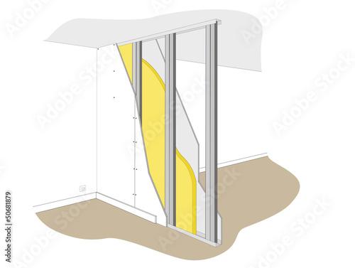 isolation cloison fichier vectoriel libre de droits sur la banque d 39 images image. Black Bedroom Furniture Sets. Home Design Ideas