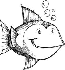 Fish Sketch Doodle
