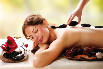 Spa Salon. Stone Massage. Dayspa