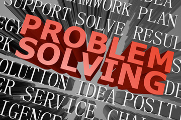 Problem solving word cloud