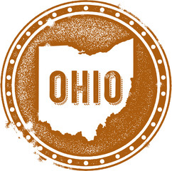 Ohio USA State Stamp