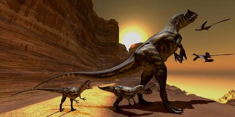 Allosaurus at Sunset