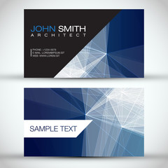 Blue Modern Abstract Business - Card Set | EPS10 Vector Design