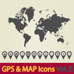 World map icons 6