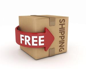 3d free shipping cardboard