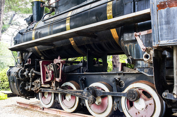 The old locomotive in outside