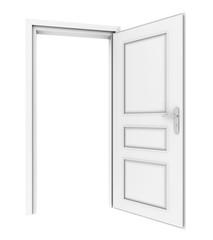 open door. 3d render