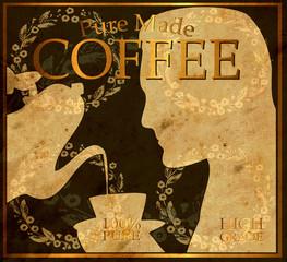 Retroplakat - Kaffee