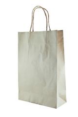 Paper bag on white background