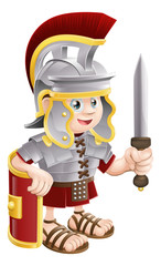 Spoed Fotobehang Ridders Roman Soldier with Sword