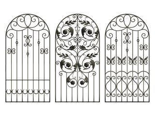 Iron fences with flowers and leaves
