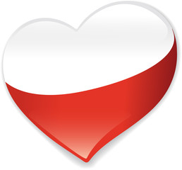 Heart Poland vector