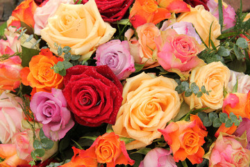 Colorful rose bouquet