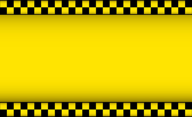 yellow background with taxi symbol