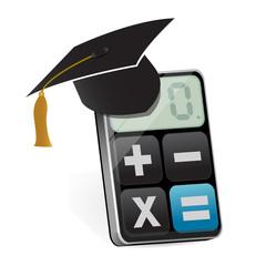graduation and modern calculator