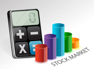 stock market and modern calculator