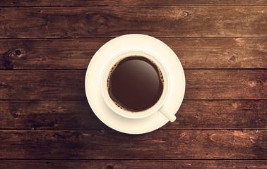 Kaffee Tasse auf Holztisch