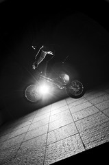 Man jumping with the bike