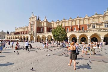 Foto auf Acrylglas Krakau Old Town square in Krakow, Poland