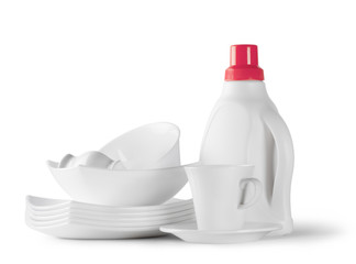 Pure white tableware