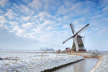 Wall Mural - windmill in winter