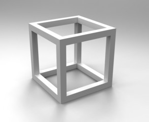 Cube monochrome abstract