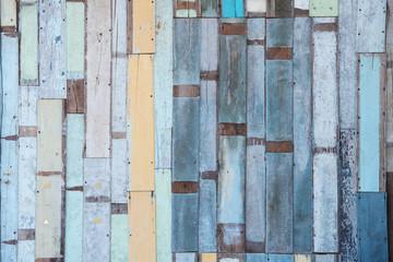 Colorful vintage wooden background
