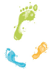 footprints in paint