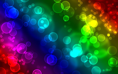 Colorful abstract bubbles background