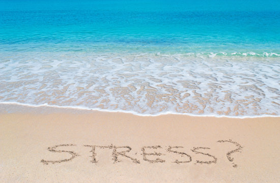 turquoise foreshore and stress