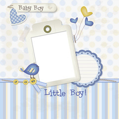 Baby Boy - Scrapbook - Place your photo and text