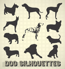 Vector Set: Dog Silhouettes