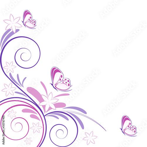 Sfondo primaverile fiori e farfalle immagini e for Sfondi con farfalle