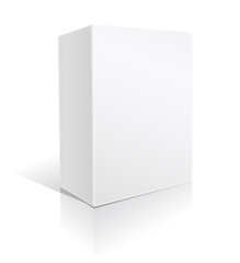 white carton box for software