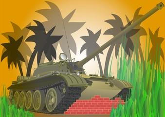 Foto op Canvas Militair Векторный танк