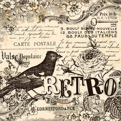 Fond de hotte en verre imprimé Affiche vintage Retro Background