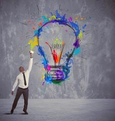 Fototapete - Creative business idea