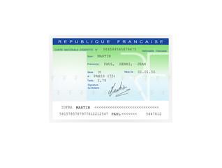 carte identité specimen martin