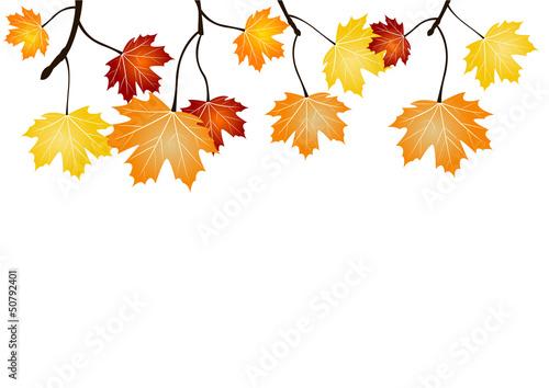 Frise feuillage d 39 automne fichier vectoriel libre de droits sur la banque d 39 images - Image automne gratuite imprimer ...