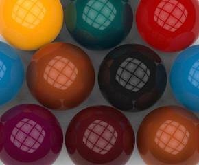 pool close up balls