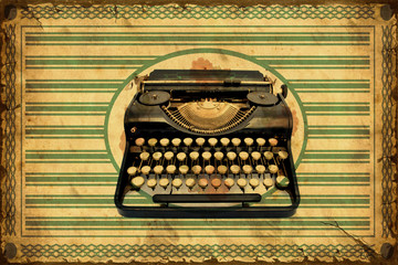 Fond de hotte en verre imprimé Affiche vintage Retroplakat - Schreibmaschine